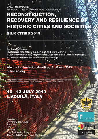 Poster: Reconstruction, Recovery and Resilience of Historic Cities and Societies