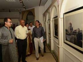 Mr Papa Rao (Advisor to Chief Minister of Telangana), Mr Venkatesham (Principal secretary to Government of Telangana) and Mr Ratish Nanda (CEO, AKTC) at Salarjung Museum