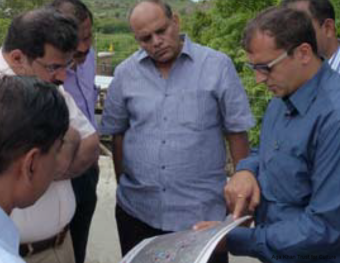 Commissioner, Greater Hyderabad Municipal Corporation (GHMC) with AKTC team discussing works at the site