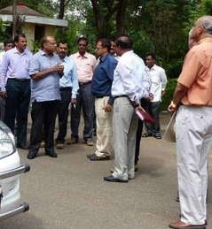 Mr. Somesh Kumar, Commissioner (GHMC) and AKTC Team during a site visit to Deccan Park