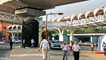 The skywalk project has become a bone of contention between the AAP dispensation and the BJP-led central government.