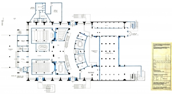 Renovation of Tagore Hall - Basement Plan showing proposed conference hall facilities