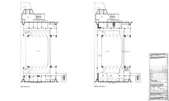 Renovation of Tagore Hall - First and Second floor plans, proposal showing arthists' accomodation and caretakers' apartments