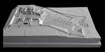 Site Model, view from the South-East