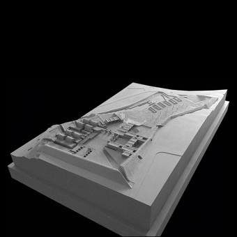 Site Model, view from the South