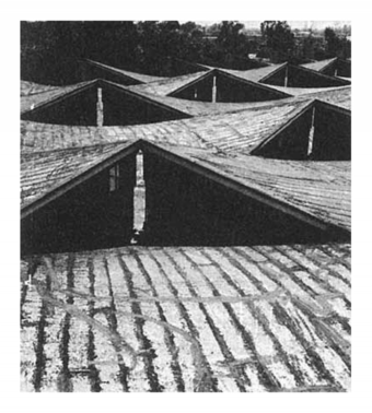 Roof (skylight) details, Escorts Factory, 1964