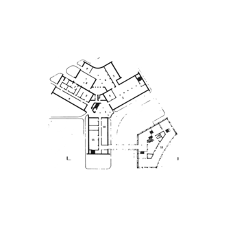 Ground plans of the administrative block and exhibition gallery