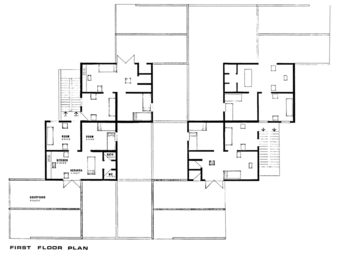 First Floor Plan, category 2 (520 sft) housing