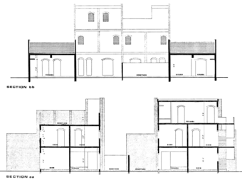 Section AA (top) and Section BB (bottom), category 2 (520 sft) housing