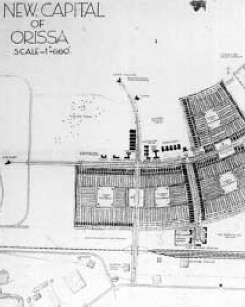 Figure 10. Otto Koenigsberger, plan for the new capital of Orissa at Bhubaneswar, 1948 (with permission of Renate Koenigsberger).
