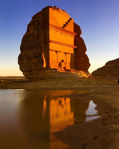 This rock tomb is just one of the monuments left in the area by the Nabataeans