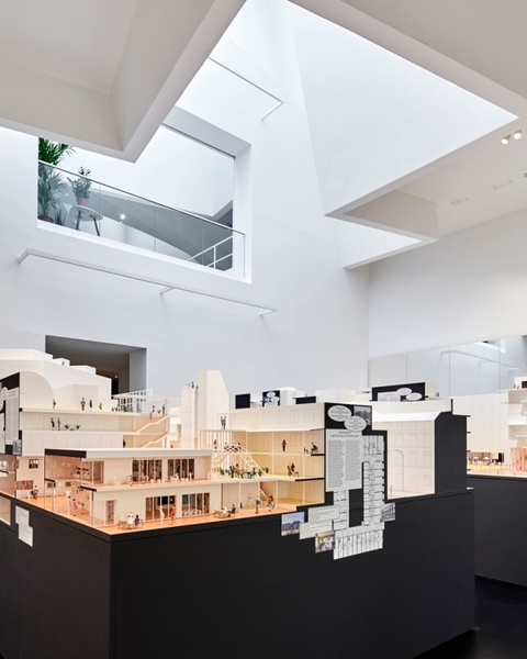 Installation view of 'Together! The New Architecture of the Collective' at Vitra Design Museum. Read more at https://www.wallpaper.com/architecture/the-vitra-design-museum-explores-communal-living#bKAwVbc4QY4KCVfc.99