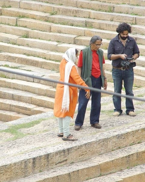 Doshi and Premjit during the making of the film