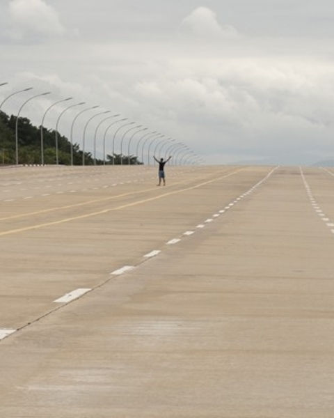 Myanmar's new capital, Naypyidaw, boasts a 20-lane highway that doesn't see much traffic.