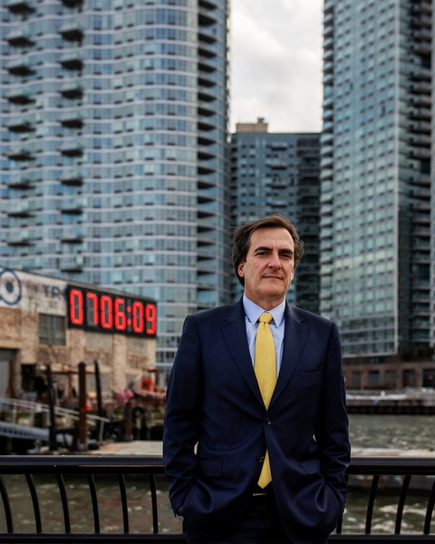 Michael Gianaris at the former potential location of the Amazon headquarters in Long Island City, Queens, New York