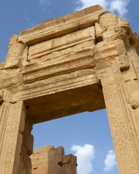 The replicas of the Temple of Bel's entrance arch will be built to coincide with world heritage week in April.