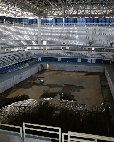 Inside the Aquatics Stadium