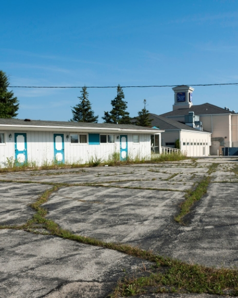 An abandoned motel in Sheboygan, Wisconsin