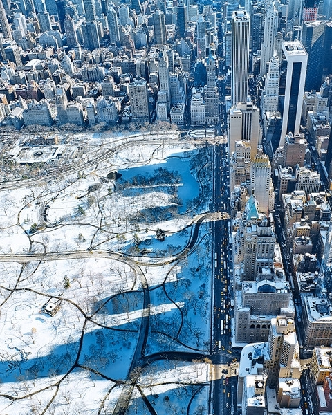 PILLAR OF SOCIETY An aerial view of One57 and the shadow it casts over Central Park, dwarfing those of its neighbors., By Joe Lertola/Bryan Christie Design.