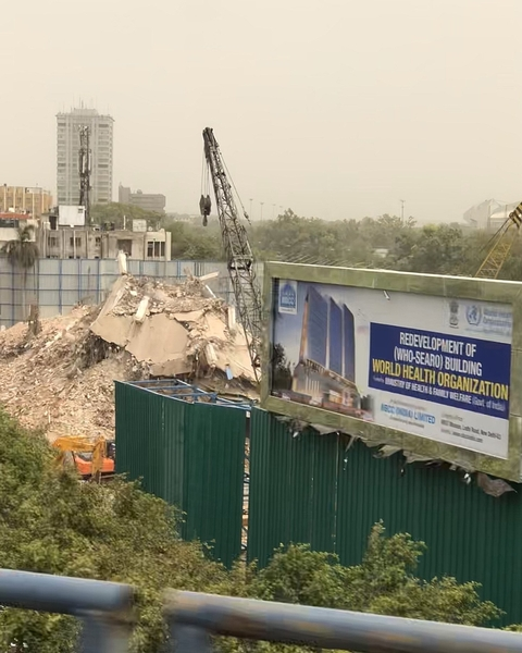 Habib Rahman, WHO building being demolished on 13th July 2019