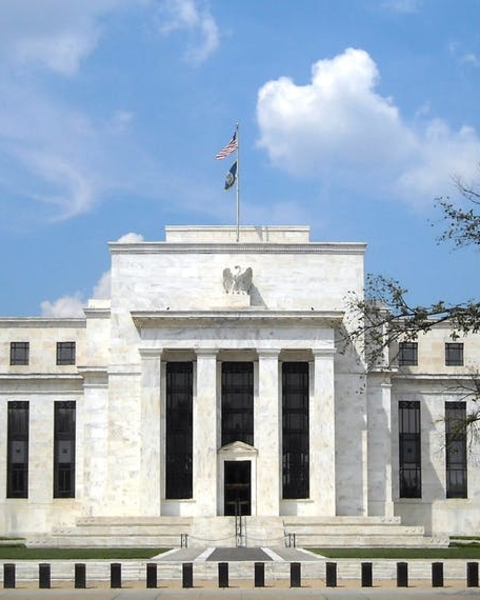 The Federal Reserve Headquarters building in Washington, D.C., designed by Paul Cret