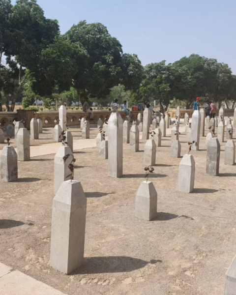 Adeela Suleman's outdoor installation, The Killing Fields of Karachi