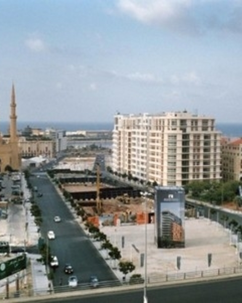 Beirut, Martyr's Square, during recent redevelopment.