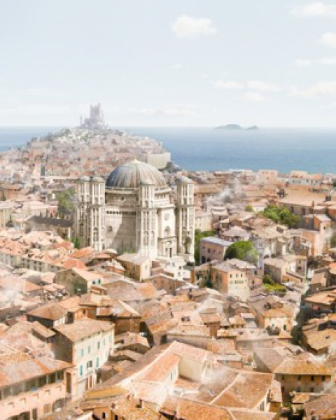 King's Landing has metamorphosed from a tightly-packed peninsular citadel, resembling Dubrovnik, to a sprawling metropolis bounded on one side by a plain, which seems more based on Pre-Ottoman Constantinople