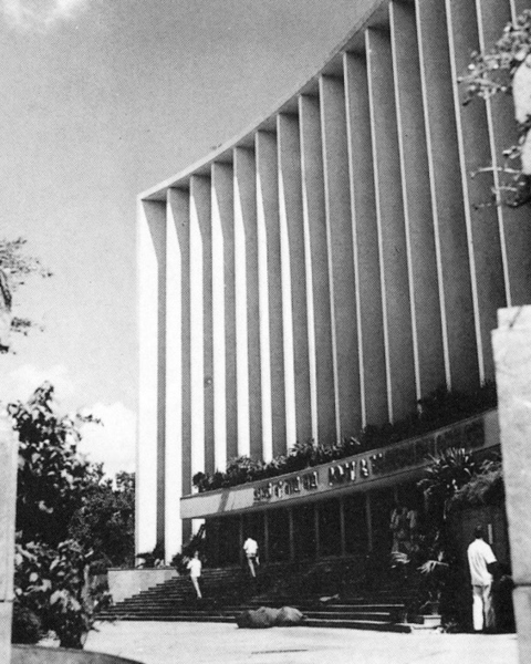 Facade following the curve of Patel Chowk, GPO & POSTS & TELEGRAPH DIRECTORATE, New Delhi