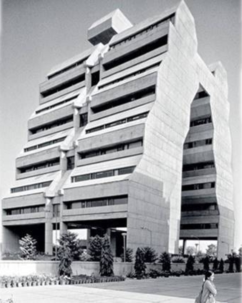 Getting ziggy with it: The NCDC building on the arterial Siri Fort Road, Delhi.