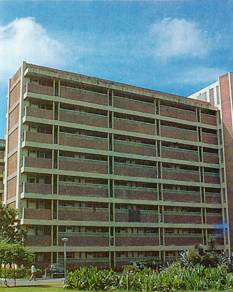 General view of the Complex, Curzon Road Hostels, 1969