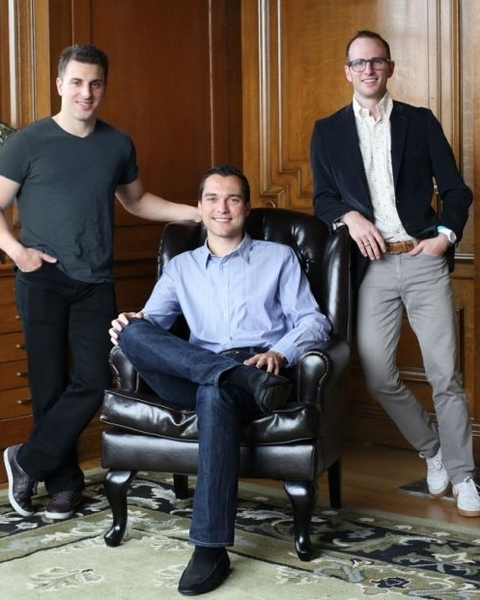 Airbnb co-founders Brian Chesky, Nathan Blecharczyk and Joe Gebbia