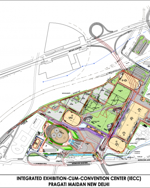 Layout Plan of Integrated Exhibition-Cum-Convention Center (IECC)