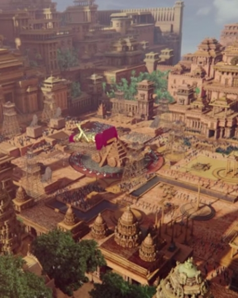 The grand city of Bahubali's Mahishmati.