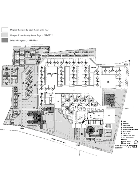 Site Plan, the Indian Institute of Management, Ahmedabad