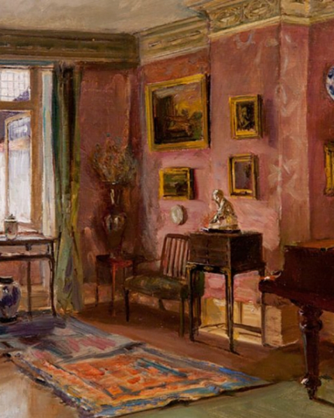 The Front Parlor, a 1909 painting by Walter Gay