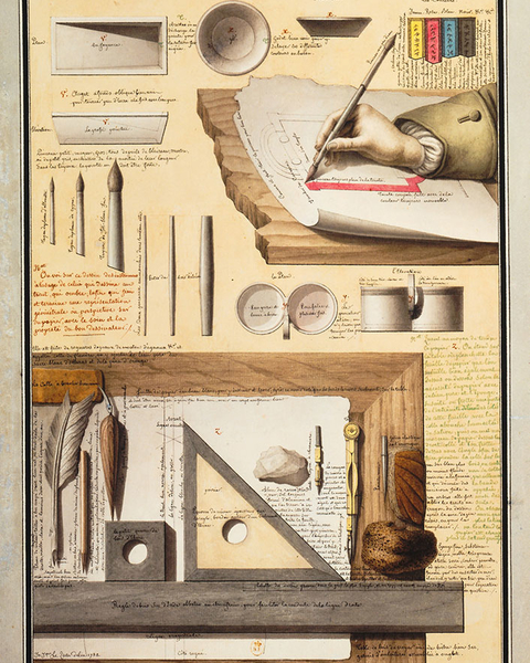 Draftsman's Tools, from Civil Architecture, 1782