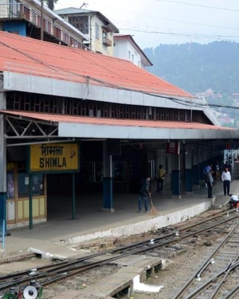 The Shimla railway station's new look will be a blend of the British architecture and the traditional Dhajji style, which uses both stones and wooden logs