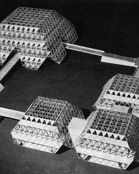 Layout Model, Permanent Exhibition Complex by Raj Rewal | New Delhi (India), 1972