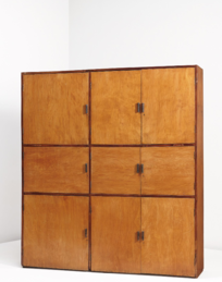 BALKRISHNA DOSHI AND LE CORBUSIER Unique cabinet, model no. LC-AH-08-A, from the Mill Owners' Association Building, Ahmedabad, 1953-1954