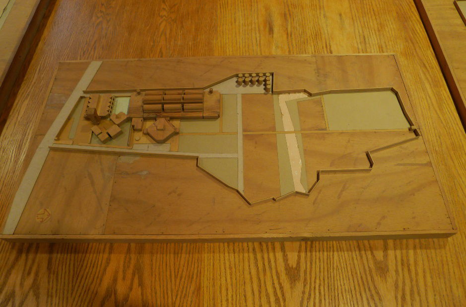 Call No: 366.III.A.12, INTEC Polymer Factory and Laboratories (Scheme 2) (Architectural Model, Wood, 39 ½ x 21 x 3 ½ inches)