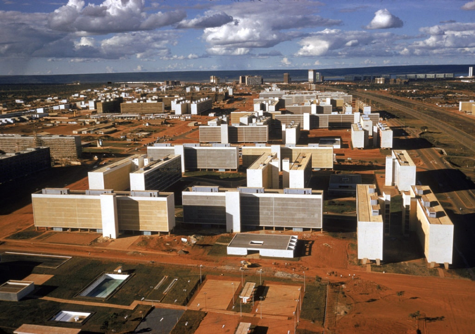 Brasilia during its construction, in 1961