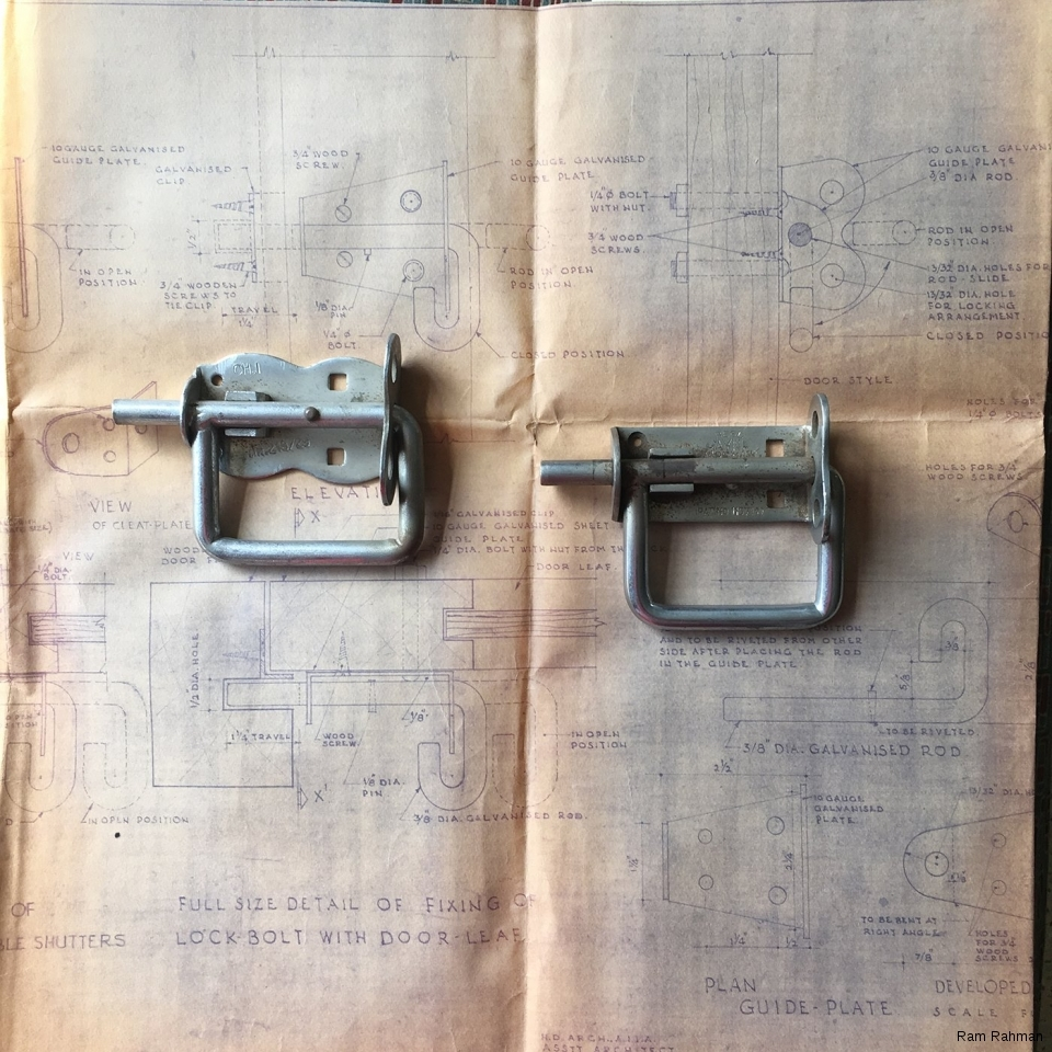 1963 blueprints by Habib Rahman for the Pullblock, the prototypes are from around 1966.