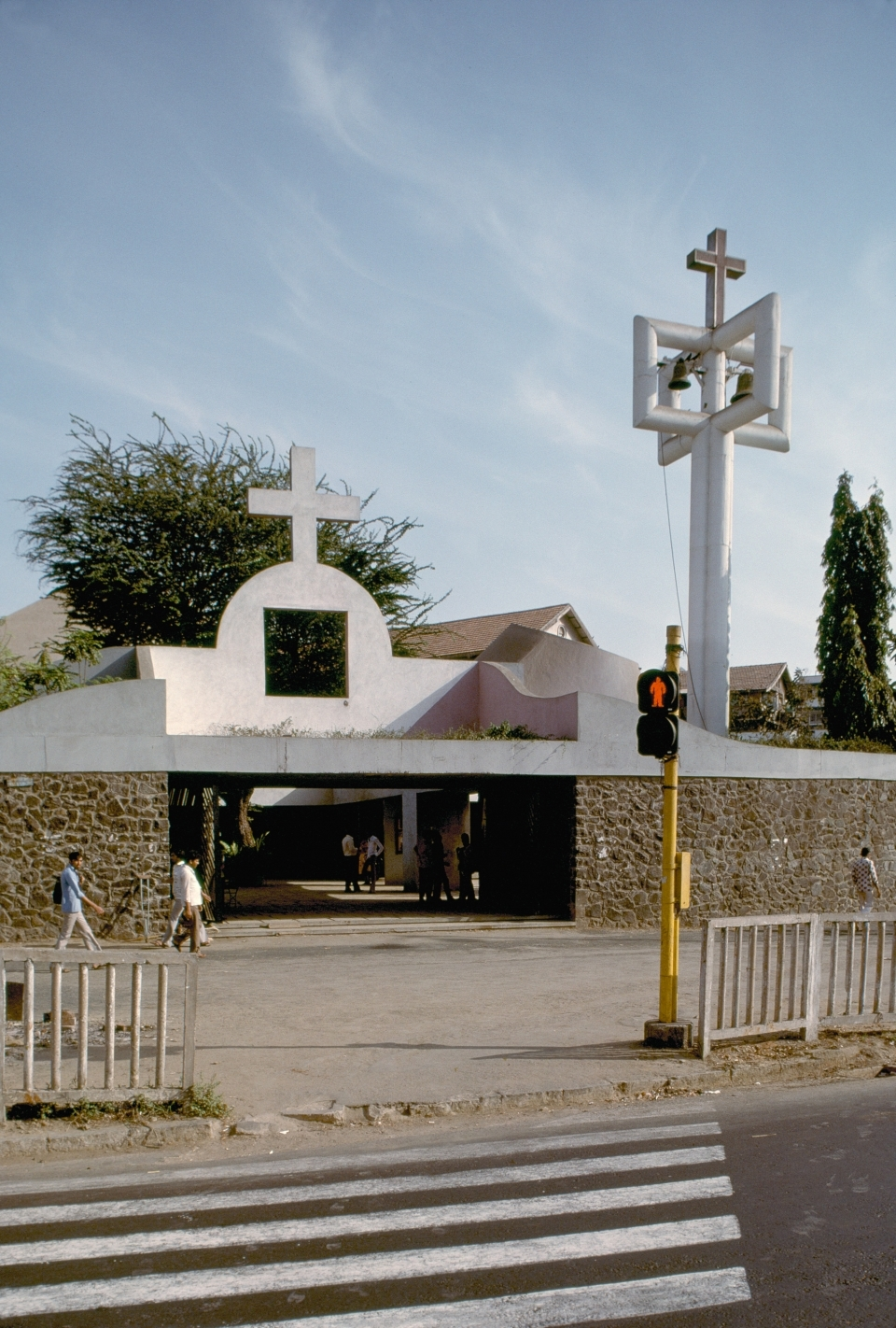 Salvacao Church exterior, entrance, 1985
