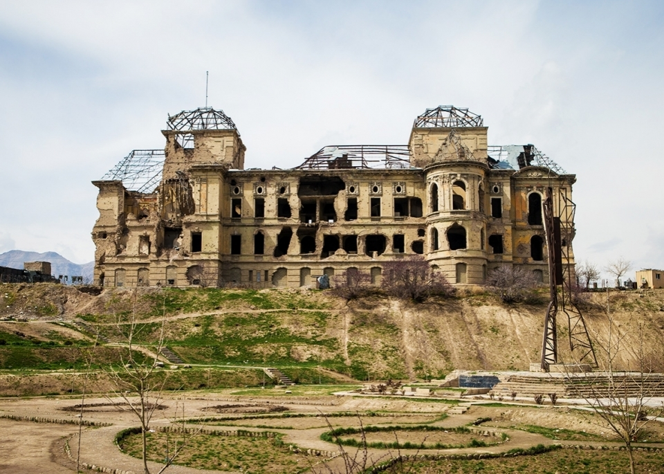 Darul Aman Palace is a magnificent structure, even its current decrepit state. It sits on the outskirts of Kabul, Afghanistan, one of the world's fastest-growing cities. The neoclassical building is surrounded by unkempt Venetian-style gardens and there a