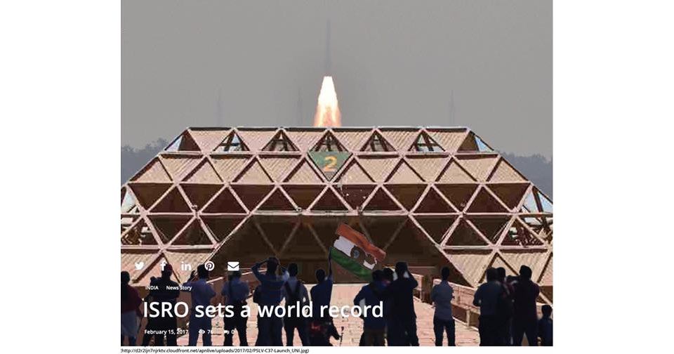 Indian agency sends into orbit highest number of satellites ever launched in a single mission.