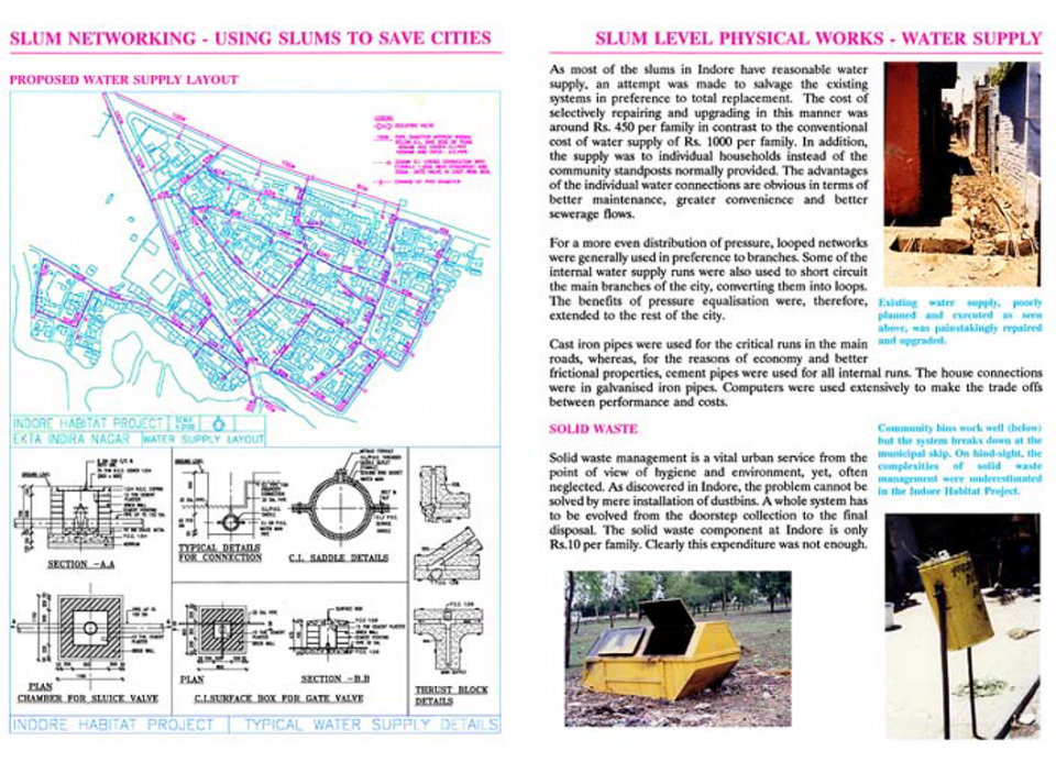11. Slum Level physical works - water supply and solid waste