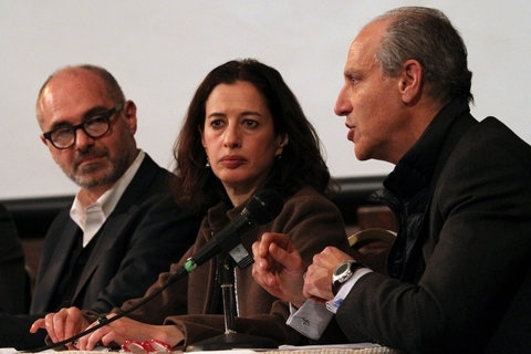 From left, Stephen Rustow, a principal of the firm Museoplan; Karen Stein, an architectural advisor and former editor at Architectural Record; and Glenn D. Lowry, the director of the Museum of Modern Art.