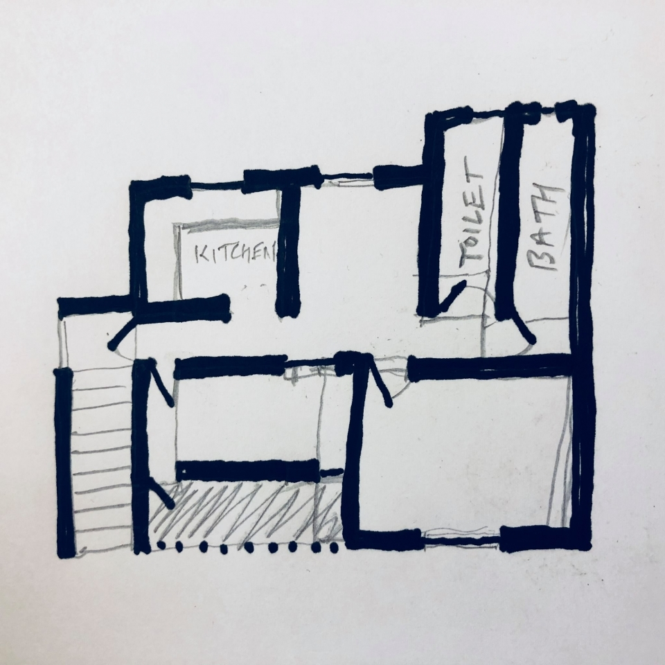 """A """"quick mental sketch plan"""" of the house"""