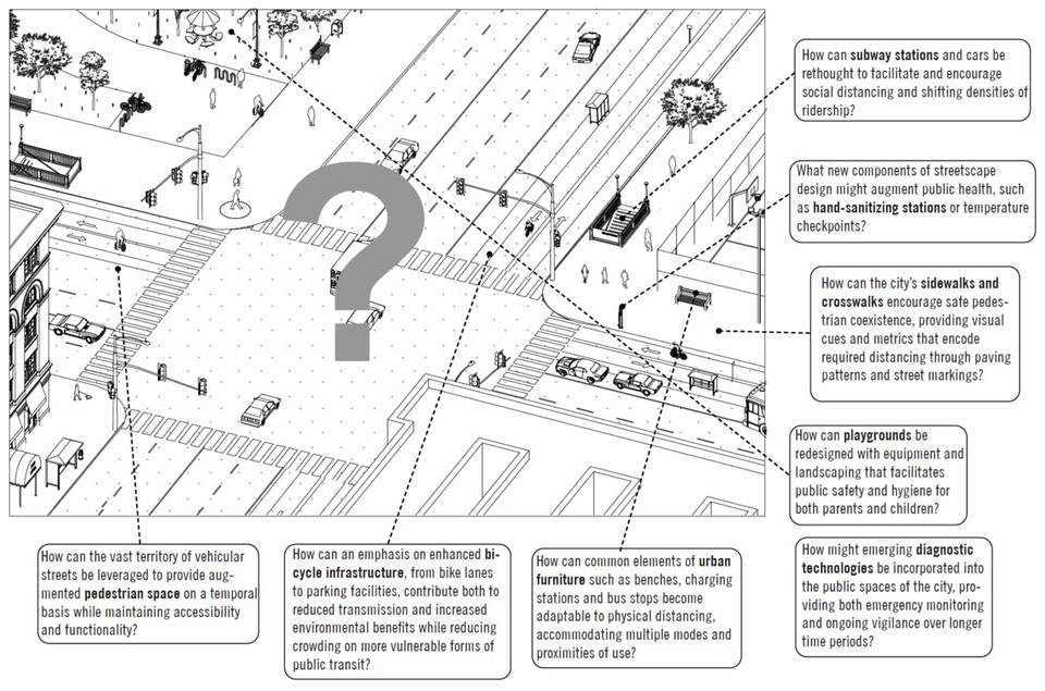 """View of the """"Manual of Urban Distance,"""" produced by Princeton SOA Professors Paul Lewis and Guy Nordenson"""